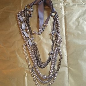 Silver toned chain necklace